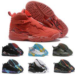 Jumpman 8 di alta qualità San Valentino 8s Vday Aqua Nero Viola Cromo Conto alla rovescia Pack Scarpe da basket all'aperto Sneakers sportive uomo 40-47 da pacchetti di giorni viola fornitori
