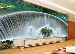 fiber flow Coupons - 3d wallpaper custom photo mural Atmospheric waterfall cornucopia water flow tooling background wall floor stickers wall art canvas pictures
