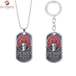 Collar de modo online-Juego de PC de metro Éxodo 2033 Metal Man collar del encanto de recuerdo Tag Mode Juegos regalo