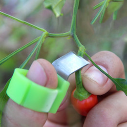 cesoie bypass Sconti Picking Ring Picking Vegetables and Fruit Orchard Cut Tool Pratico Picking Knife Attrezzi da giardinaggio