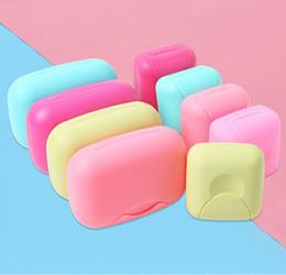 Fechaduras de banheiro on-line-Criativa viagem mão Soap Box Portátil Leak-proof Waterproof Soap Box Início Banho tampa de bloqueio Soap Box
