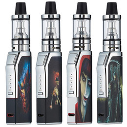 adesivos vape para mods Desconto Mini Vape Mod Starter Kits 80 W 1100 mah Caixa Mod E Cigarros Vaporizador Kit 2.0 ml Atomizador 510 Tópico 20 W-80 W Vape Mod Kit Com Adesivos