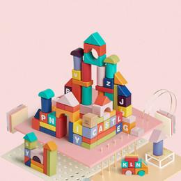 Brinquedos de madeira velha on-line-Bebê Bloco de Construção De Madeira Do Bebê Meninos e Meninas 1-2-3 Anos de Idade As Crianças Ilumina o Enigma da Assembléia Brinquedos