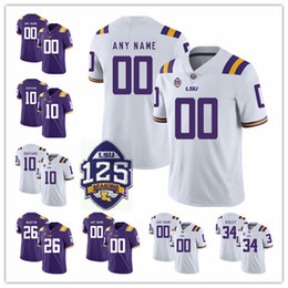 NCAA LSU Tigers  3 Odell Beckham Jr. Hot Sell Jersey 7 Leonard Fournette  Tyrann Mathieu Patrick Peterson Derrius Guice 125th stitched jersey 47cbf9991