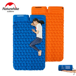 inflatable air beds Promo Codes - Naturehike Thick Camping Mat 1-2 Person Ultralight Inflatable Mattress Air bed Sleeping Pad Folding Air Mattress with pillow