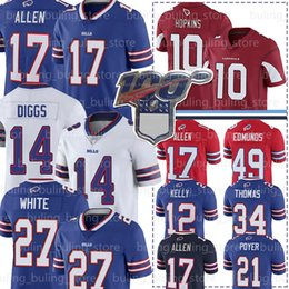 17 Josh Allen 14 Stefon Diggs Trikots Bill 10 DeAndre Hopkins 27 Tre Davious White Buffalo 91 Oliver Tremaine Edmunds Thomas Kelly Fußball von Fabrikanten