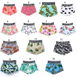 Maillots de bain bébé en Ligne-Bébé garçons Board Shorts enfants pastèque Ananas feuilles imprimer Swim Trunks Beach Shorts 14 couleurs Vêtements pour enfants MMA1595 60pcs