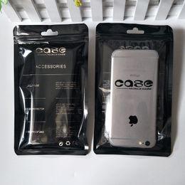 Sacos Ziplock da selagem do caso universal do telemóvel Sacos pretos de empacotamento 12 * 21cm de Accesorries dos sacos de Accesorries do malote do telefone móvel do preto de