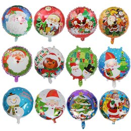 2019 venda balões de foils 18 polegada de natal da folha de alumínio balão santa boneco de neve xmas home decoração balões fontes do partido de férias ornamento do feriado toy kids venda venda balões de foils barato