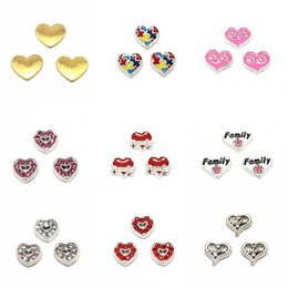 10pc Lot I Love Volleyball Sports Red Heart Floating Charm For Memory Lockets