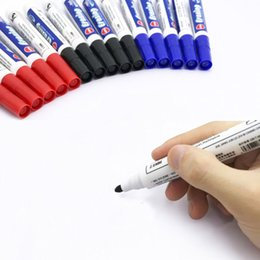 erasable marker pen Coupons - Whiteboard Writing Erasable Markers Pen Black Red Blue Erasable Whiteboard Pens Office School Point 0.1inch Smooth Writing Pens BH1326 TQQ