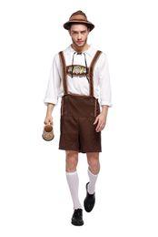 Adult Men Germany Bavarian Carnival The Munich Oktoberfest Costume Beer Waiter Cosplay Halloween Fancy Party da