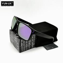 2019 quadros roxo Marca de moda de Luxo Polarizada Óculos de Sol YO92-44 para Homens Preto Quadro Roxo Logotipo Violet Iridium Lens Com Lente de Assinatura Frete Grátis quadros roxo barato