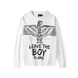 Menino branco londres suéter on-line-Menino Londres Mens Designer Hoodies dos homens moda de alta qualidade Moletons Men manga comprida Mulheres Casual Pullover Black White