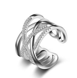 2019 anéis de moda âmbar Designer de luxo Jóias mulheres anéis de noivado Cruz zircão Open-End Anel de bronze Anel de Jóias Por Atacado Estilo Europeu Mulher DIY Moda Rin