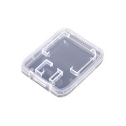 Accessoires pour cartes mémoire Boîtier pour carte mémoire SD Support pour protecteur SDHC Boîte transparente Rangement en plastique Transparent Portable Mini Case navire gratuit ? partir de fabricateur