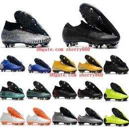 2019 ch7 cristiano ronaldo chuteiras de futebol neymar Mercurial Superfly VI Elite SG AC alto baixa botas de futebol de alta qualidade quente de