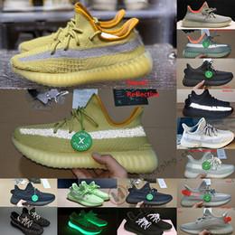 Cauda Kanye West Cinder Marsh Terra Luz Yecheil 2020 Desert Sábio Linho Zyon 500 homens tênis Triplo Preto Reflective Sneaker Box Stockx de