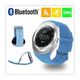 vente de montres tactiles Promotion Montre intelligente Bluetooth avec podomètre sommeil moniteur synchronisation à distance pour smartphones Android écran tactile rond vente chaude