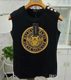 2019 chalecos de moda para damas Marca de moda de los hombres Sin mangas camisetas diseñador de lujo Carta Chaleco impreso suelto Hip hop deporte Señoras sin mangas Tank Tops chalecos de moda para damas baratos