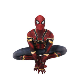 Kinder lycra anzug online-Unisex Lycra Spandex Zentai Halloween 2019 Neu weit weg von Zuhause Neu Spiderman Cosplay Kostüme Anzug Erwachsene / Kinder 3D Style