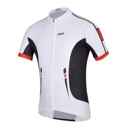 Un ciclo jersey blanco y negro online-Cheji Blanco Negro Bicicleta Jersey Jersey Ciclismo Verano Ciclismo Ropa Tops Bicicleta Bicicleta Bib Shorts + Chaqueta S -Xxxl