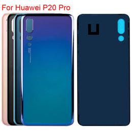 sony xperia z1 pièces Promotion Nouveau logement pour Huawei P20 Pro batterie arrière couvercle en verre couvercle de la porte arrière boîtier de remplacement couvercle arrière avec logo