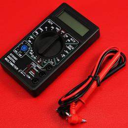 amperio metro dc Rebajas Nuevos accesorios de estilo Multímetro digital con medidor de amperios de voltaje del zumbador La tabla actual Prueba Sonda DC AC LCD