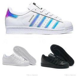 reputable site d8a38 6ecda 2019 scarpe iridescenti Superstar Original White Hologram Iridescent Junior  Oro Adidas Superstars Sneakers Originals Super Star