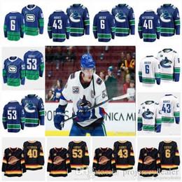 хоккей Скидка 53 Bo Horvat Captain 2020 All-star Vancouver Canucks 50th 43 Quinn Hughes 6 Brock Boeser 40 Elias Pettersson 73 Tyler Toffoli Jersey