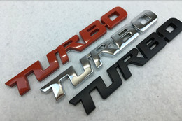 Etiqueta emblema turbo on-line-Metal Turbo Carta Adesivos Emblema Emblema Para Chevrolet GMC SIERRA Tailgate Tronco Capô Bumper Cauda Decalque