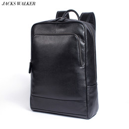 computer leder rucksack für männer Rabatt Mode Männer Frauen 100% Echtes Leder Rucksäcke Echte Natürliche Leder Student Luxus Weiblichen Männlichen Lager Kapazität Computer Tasche