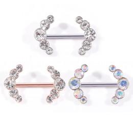 Canada Nouvelle bague de mamelon piercing bijoux en acier chirurgical 316L diamant anneaux strass nombril Offre