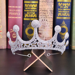 королева королевы Скидка Новый аксессуар для волос свадебные тиары Bridal Crown Luxury Кристал головной убор Элегантные Свадебные Hairband Party Girl Prom Queen Tiara заставки