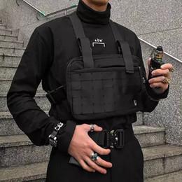 2020 бегущая грудная клетка Аликс Black Chest Rig Сумка для мужчин Hip Hop Streetwear талии сумка Tactical Грудь Сумка Fanny Pack Талия Packs работает телефон мешки дешево бегущая грудная клетка