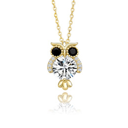 2021 925 eule anhänger halskette Elegantly Women Wedding Pendant 925 Sterling Silver Glittering Owl Pendant Hip Hop Ice Crystal Zircon Necklace Fashion Charm Gift