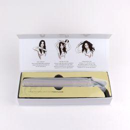 TYME 2 in 1 raddrizzatore dei capelli placcato oro piastre di titanio ferri da stiro piastre per capelli veloce bigodino di capelli US EU UK Plug da
