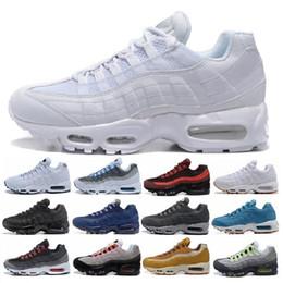 sapatas do natal de kevin durant Desconto Nike Air Max 95 Original dos homens das mulheres tênis de corrida chaussure homme sports formadores marrom preto branco designer de tênis zapatos