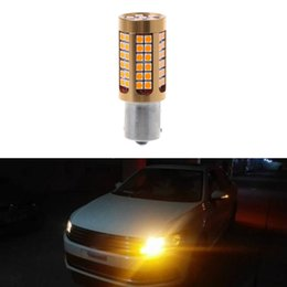 amber vehicle lights Coupons - New 1 Pc BAU15S 3030 78SMD Canbus LED Vehicle Car Turn Signal Light Bulb Lamp Amber Yellow Car Styling
