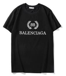 2019 nueva camiseta color 4 BB hombres mujeres carta impresión del logotipo de la camiseta de manga corta con cuello en O camiseta por mayor S-XXL desde fabricantes
