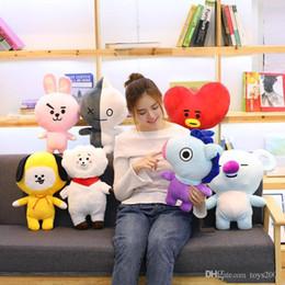 Nuovi stili BT21 peluche cuscino gruppo giovanile a prova di proiettile bambole animali farciti peluche cuscino all'ingrosso bambola creativa da felpe incappucciate fornitori