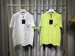 haut de gamme femmes filles t shirt patchwork poche all over monogramme lettre ras du cou imprimé blouse à manches courtes chemise pull over design de