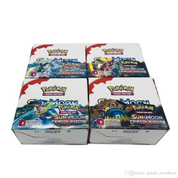 schwarze pokerkarten Rabatt 2 Lose Sammelkartenspiele 324 teile / los SCHWARZWEISS ULTRAPRISMUS SunMoon Evolutions erraten anime karten Gehe gegen muggles Pockets Monsters Toys