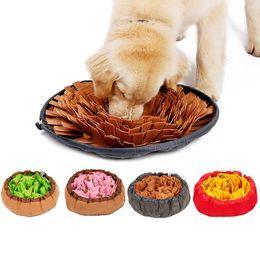 2019 cani da allenamento Pet giocattoli cane Sniffing Mat Pet Puzzle Toy Sniffing Training Pad Attività coperta stuoia alimentazione cane rilascio coperta di formazione cani da allenamento economici