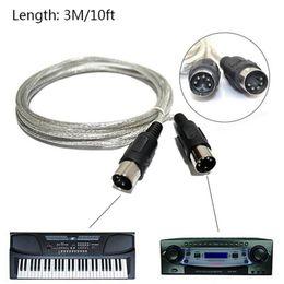 Удлинительный кабель MIDI 3M / 10ft между мужчинами 5-контактный разъем Синтезатор для соединения MIDI-совместимых инструментов от