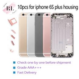iphone 6s logement de remplacement Promotion 10PCS logements neufs pour la couverture de cas de logement iPhone 6s plus corps demi-châssis pièces de rechange de remplacement