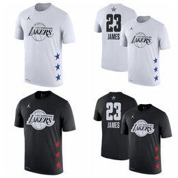 Argentina 23 LeBron Jamess Los ÁngelesLakers 2019 Juego de las Estrellas Nombre Número de baloncesto camiseta Negro Blanco Suministro