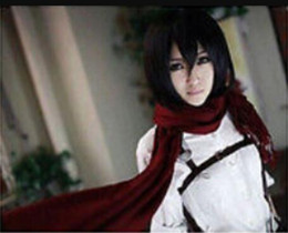 Wig Free Shipping Attack On Titan Mikasa Ackerman Short Black Straight Synthetic Cosplay Anime Wig