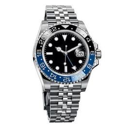 Neue stil uhren für männer online-2019 New Style Greenwich Standard Time Master mit Armband Jubiläum Serie Fashion Watches Automatic mechanische Herrenuhr Blau Schwarz