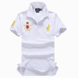meninos polos Desconto 2019 Poloshirt Pólo Sólida Camisa Dos Homens de Luxo Camisas Polo de Manga Longa dos homens Básicos Top Algodão Polos Para Meninos Marca Designer Polo Homme